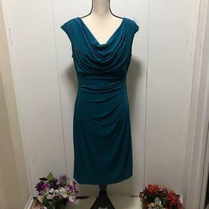 Lauren Ralph Lauren Teal Sleeveless Dress Size 12